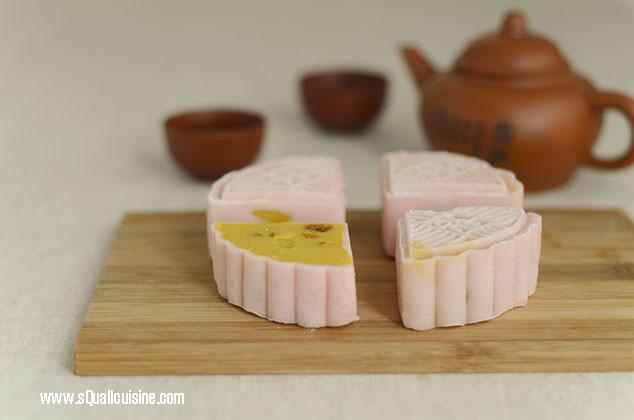 冰皮玉米蓮蓉月餅