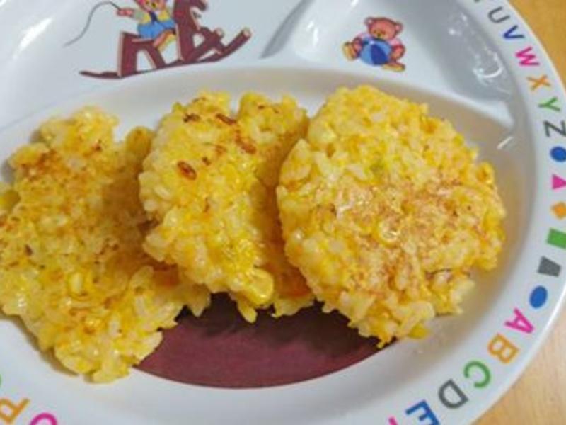寶寶副食-南瓜米煎餅