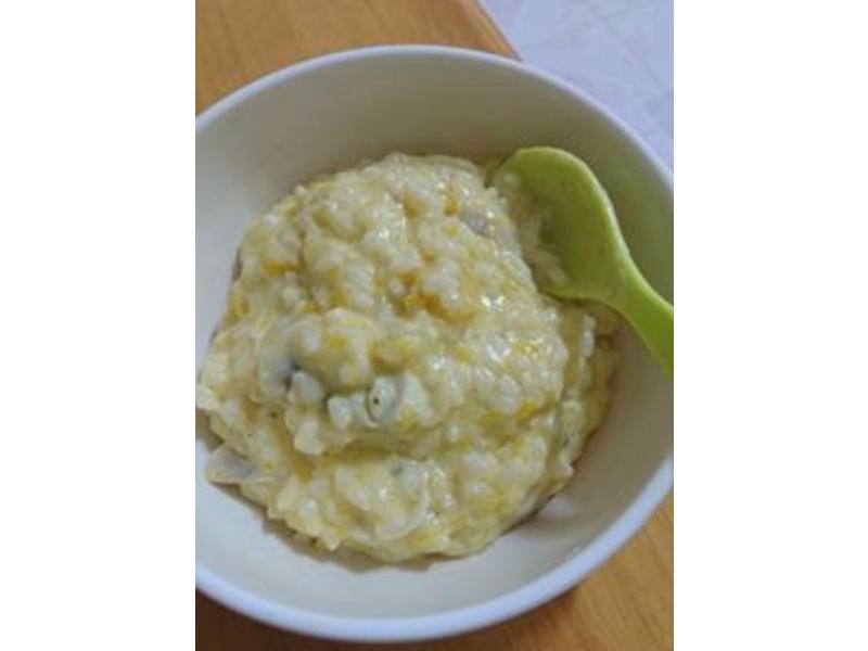 寶寶副食-奶香南瓜起司燉飯