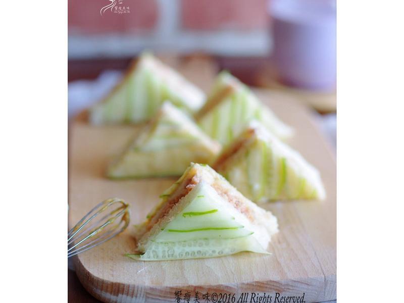 饗瘦美味-第戎芥末佐紅椒鮭魚三明治