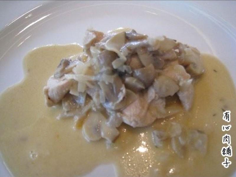有心食譜:白酒奶油蘑菇雞肉片