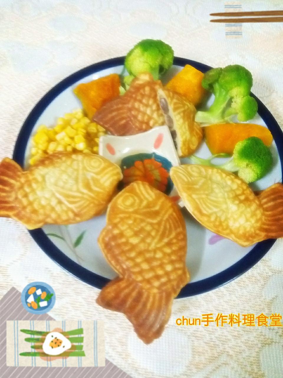 柚香紅豆鯛魚燒-健康廚房