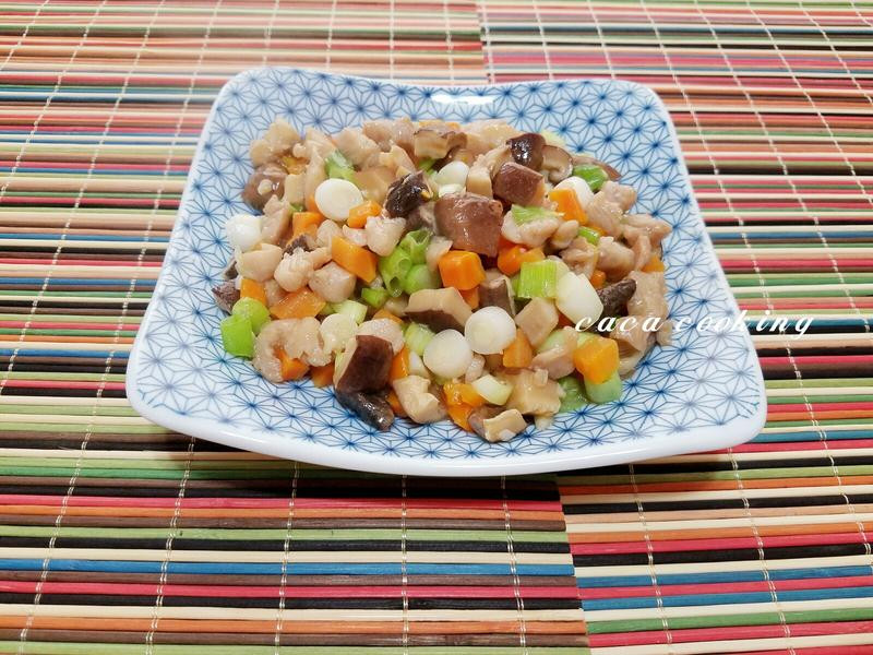 嫩雞丁炒香菇