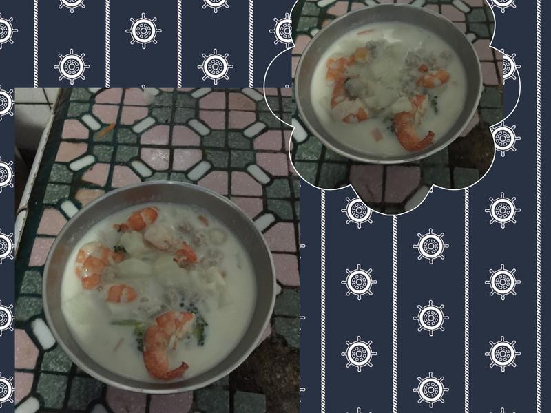 蝦子遇上蛤蜊牛奶濃湯