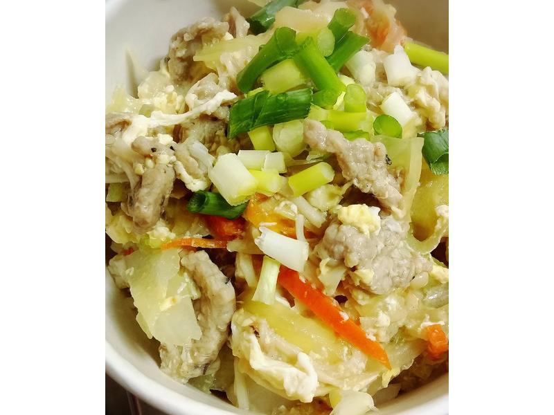 鮮蔬滑蛋豬肉燴飯