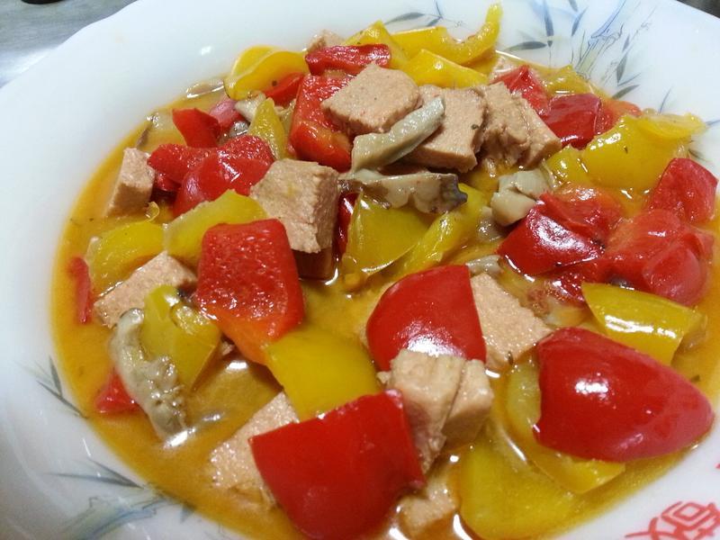 簡易炒甜椒~~~~^-^ (素食)