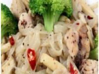 蒜香雞肉蒟蒻麵
