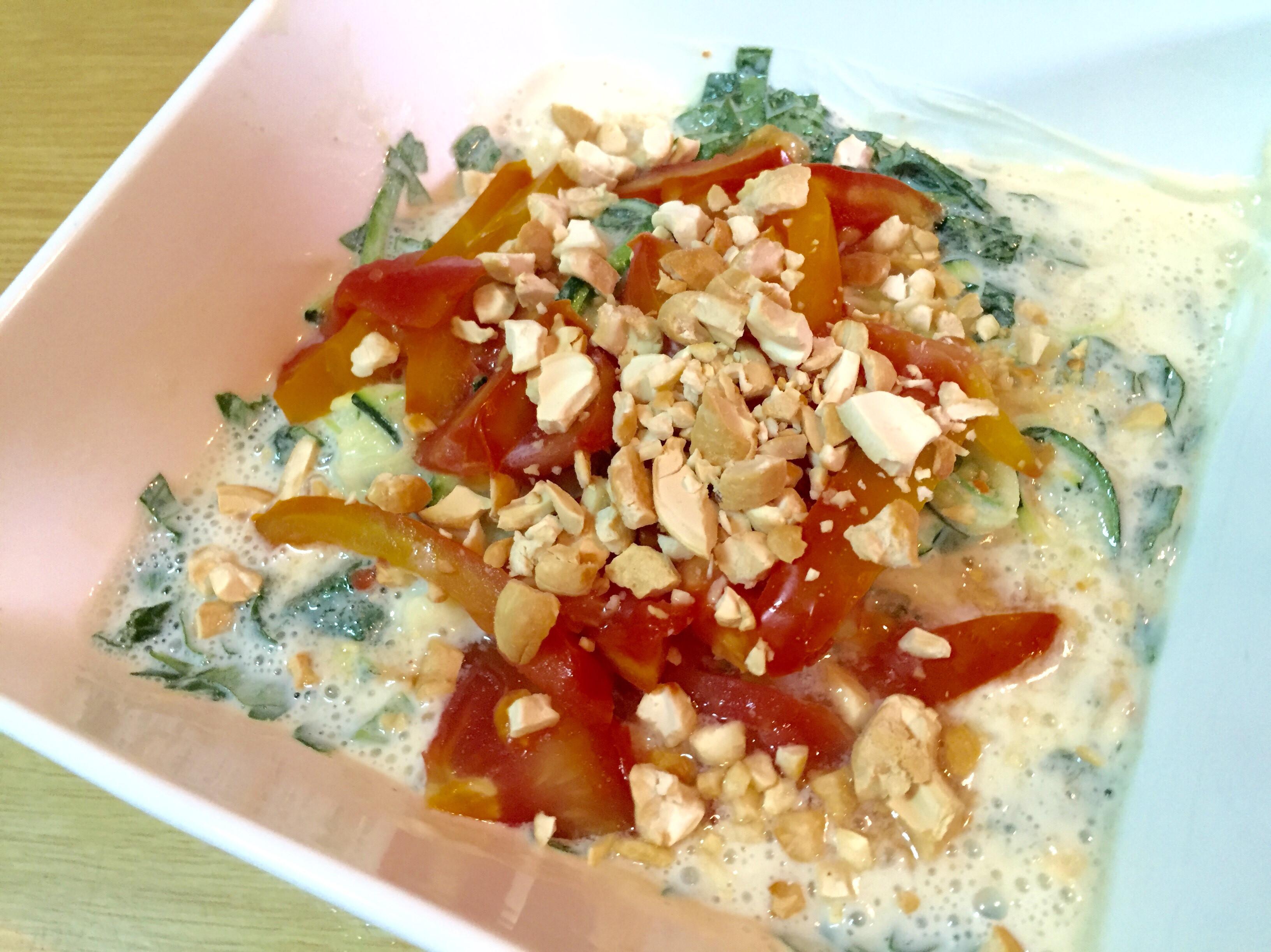 蕃茄節瓜咖哩麵(蔬食無麩質)