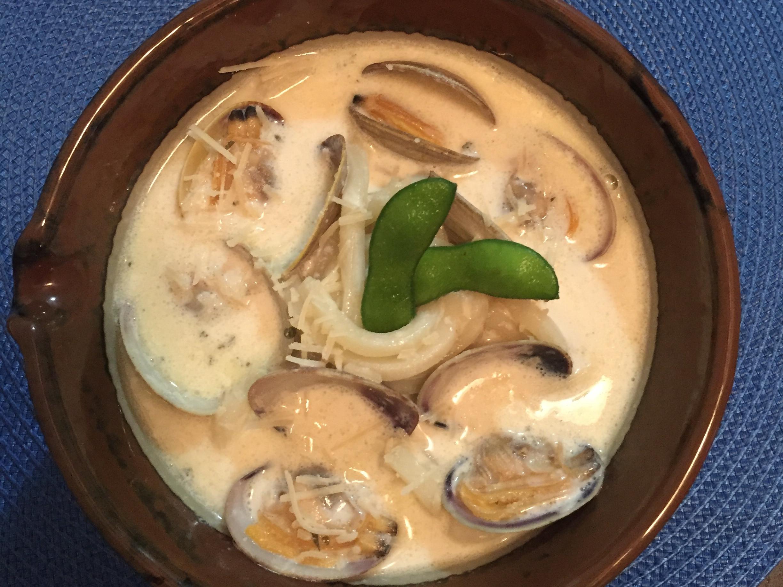 奶油貝殼烏龍麵