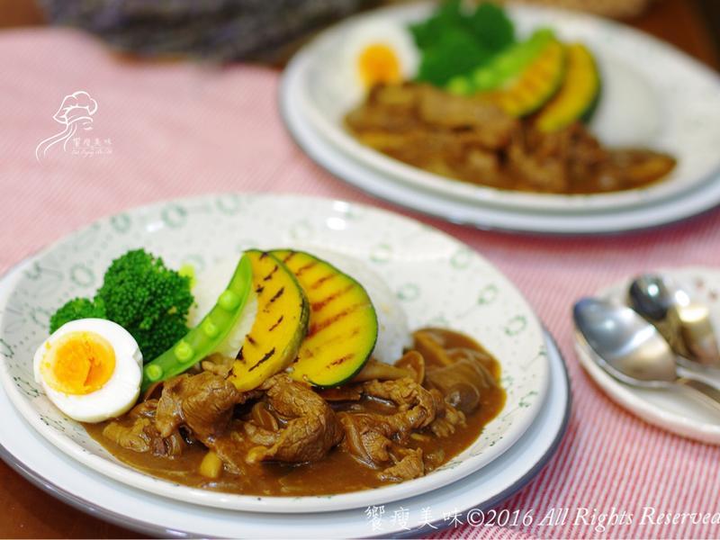 饗瘦美味-牛小排咖哩飯(30分鐘上菜)