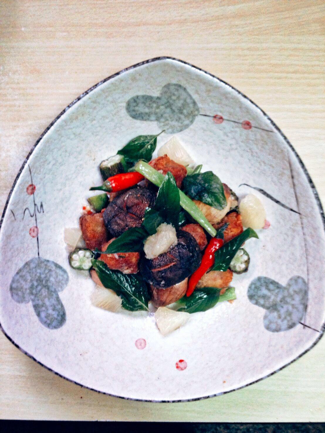 香柚鹹酥魚