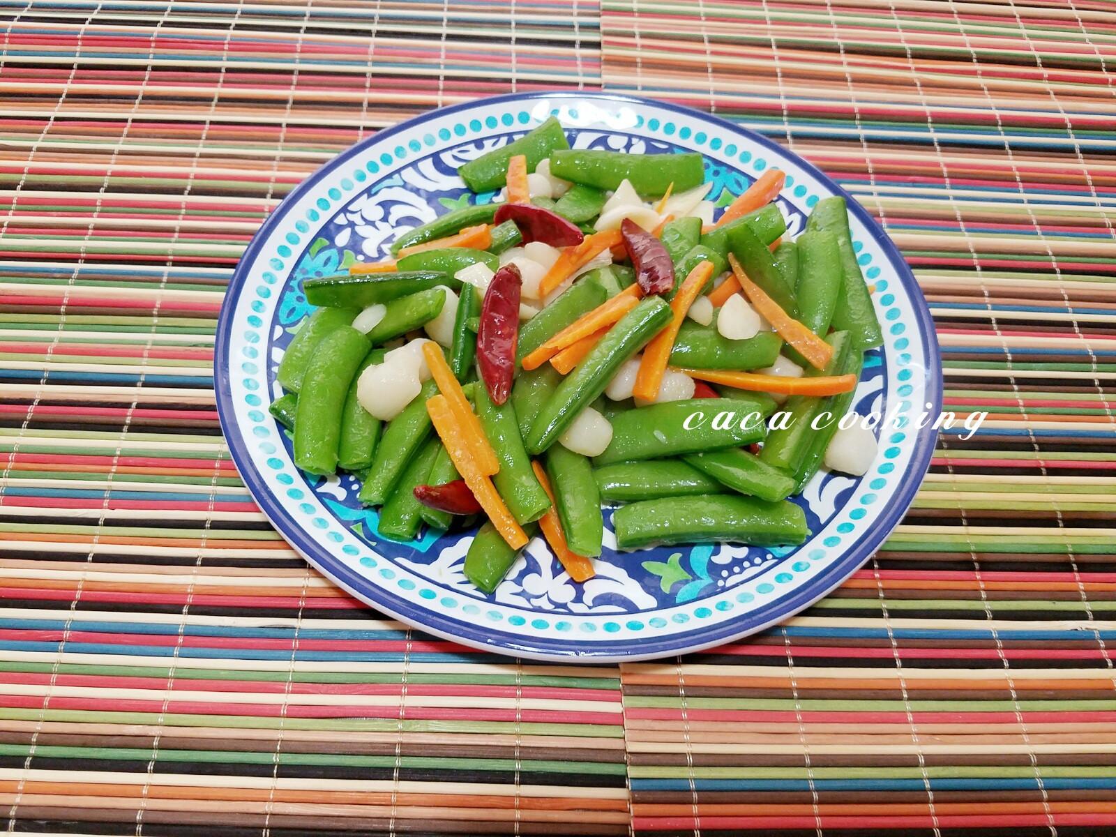 清炒干貝甜豆