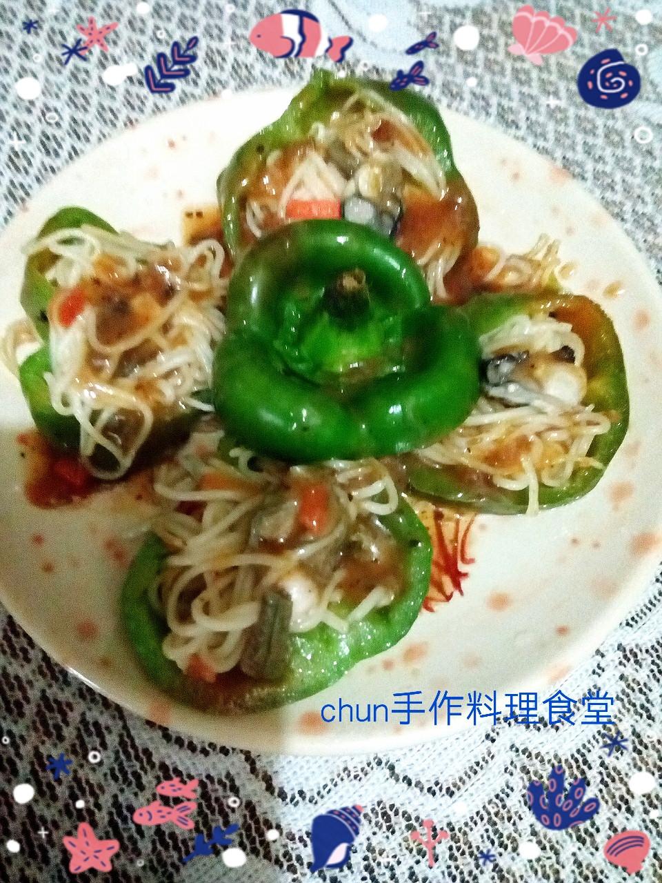 柚香鮮蚵米線青椒-健康廚房