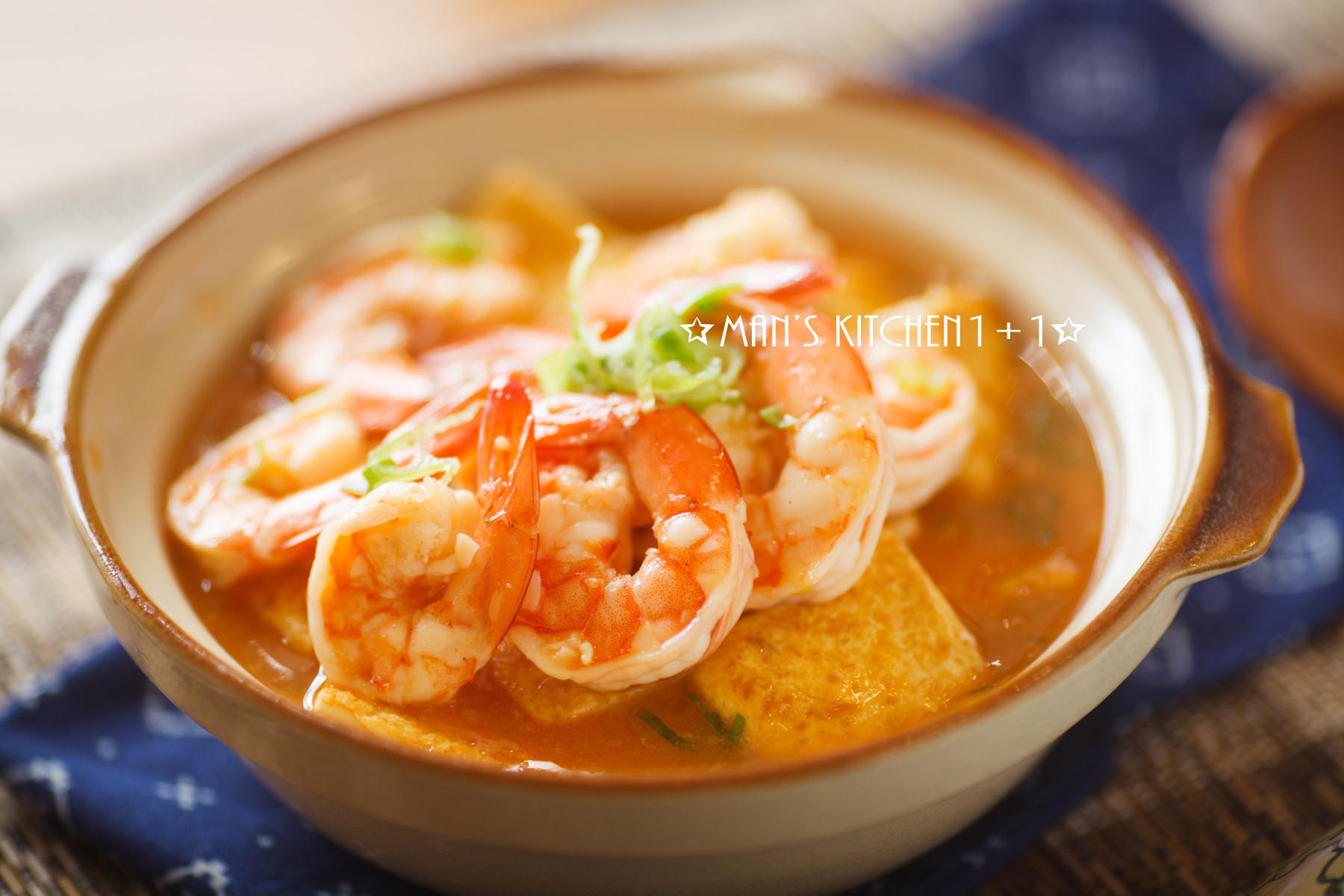鮮蝦豆腐煲 - {影音食譜}