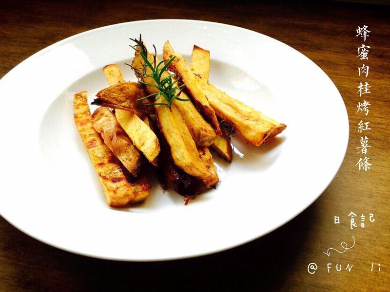 蜂蜜肉桂烤紅薯條