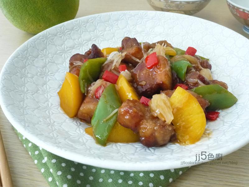 柚香蜜桃醬肉~Lagostina炒鍋
