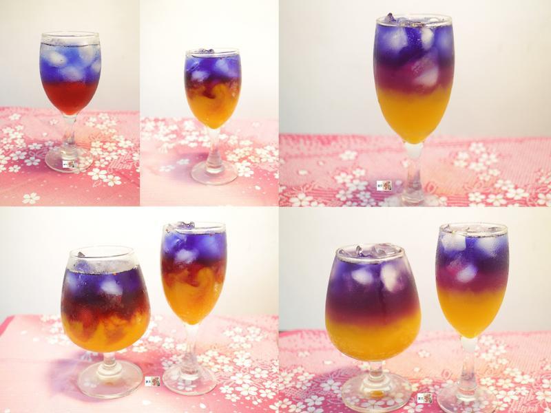 蝶豆夢幻飲品