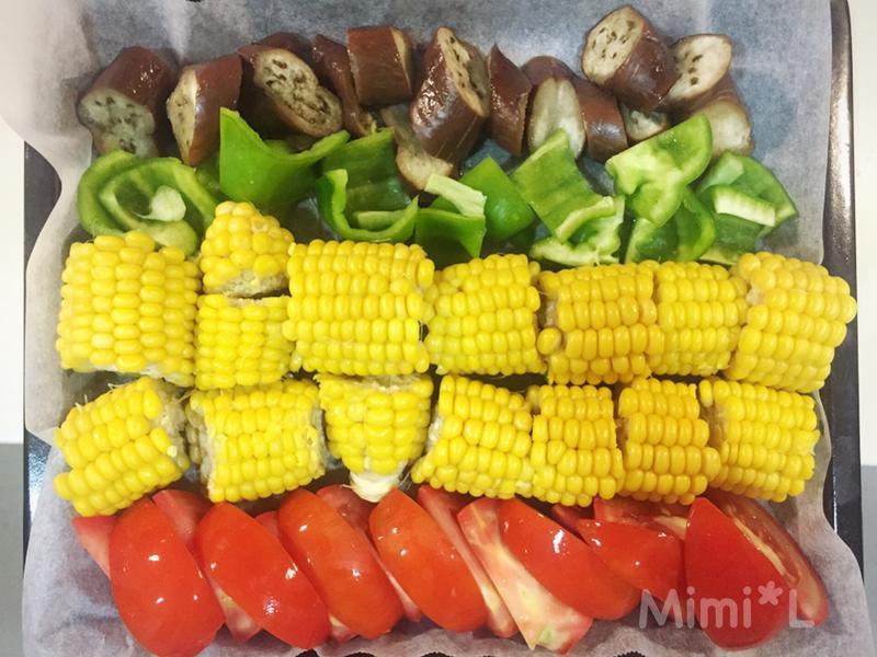 簡單健康*彩虹蔬果烤箱拼盤