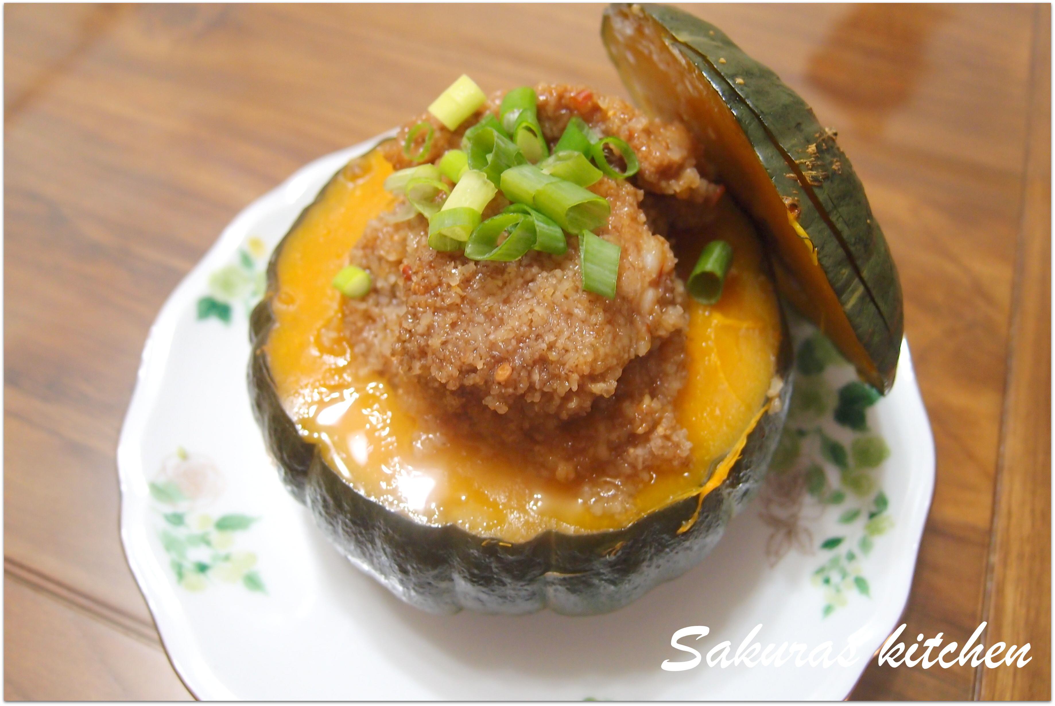 ♥我的手作料理♥ 栗子南瓜粉蒸肉