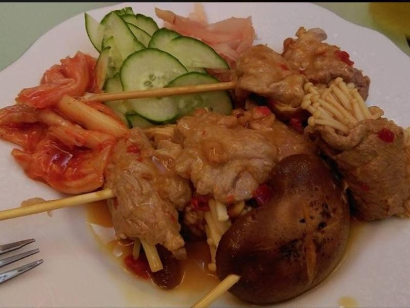 雪白菇菇串燒組-和風柚子-健康廚房