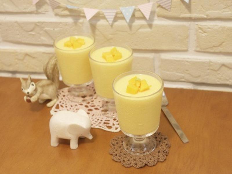 簡單易做「芒果布丁」香甜濃醇氣味 ♪