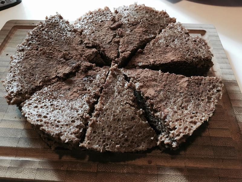 醜醜的蘋果巧克力蒸蛋糕(電鍋版)