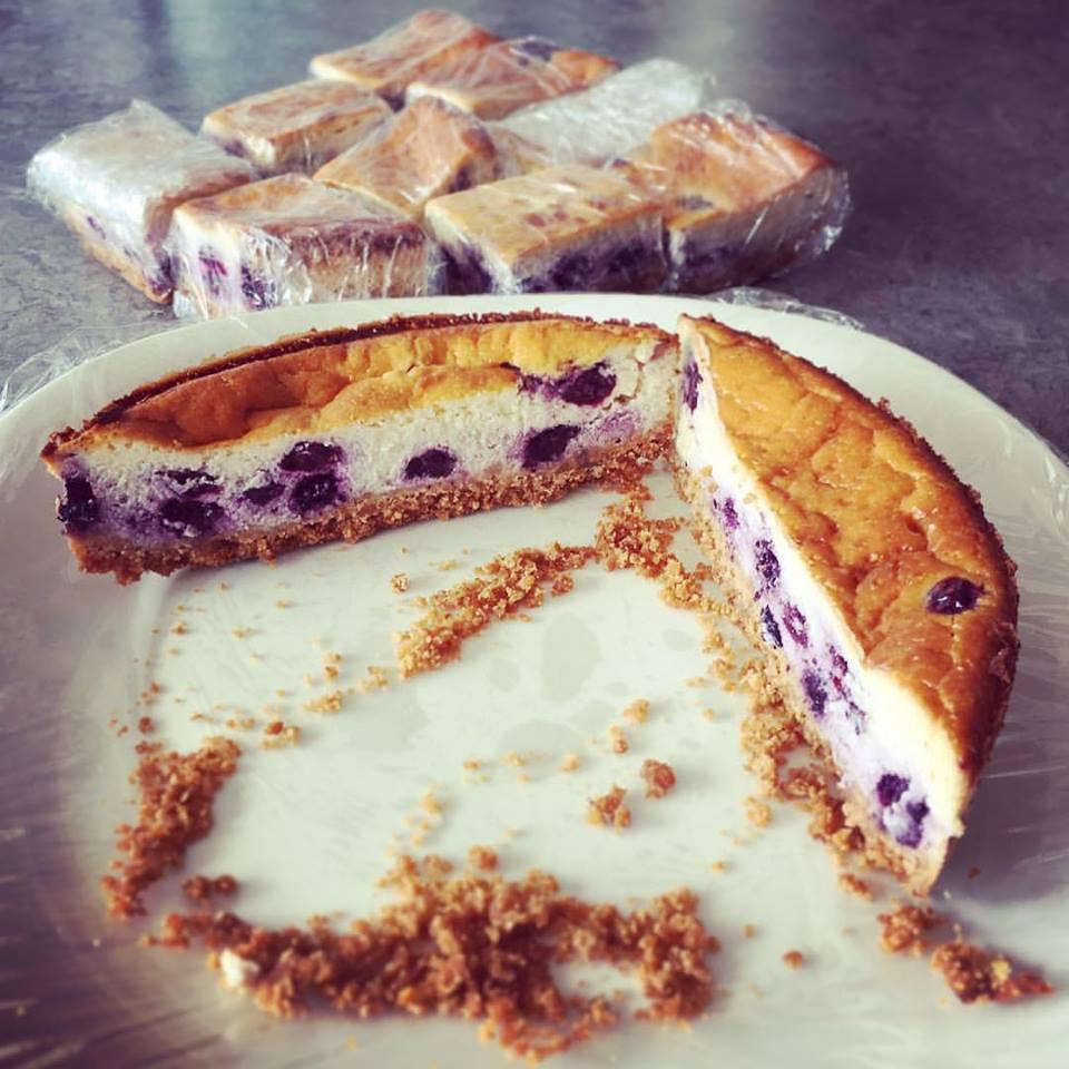 烤藍莓起司蛋糕