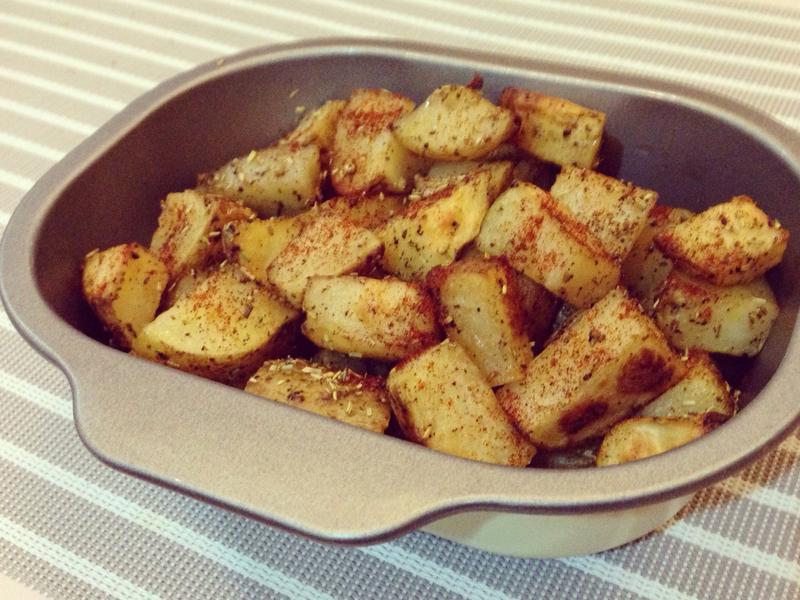 [歐風料理]烤馬鈴薯塊💛💛💛~