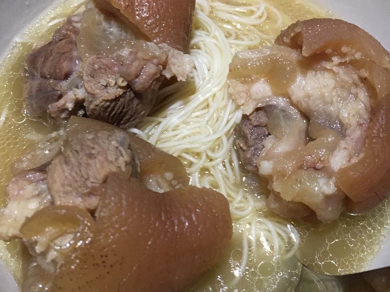 清燉豬腳+麵線