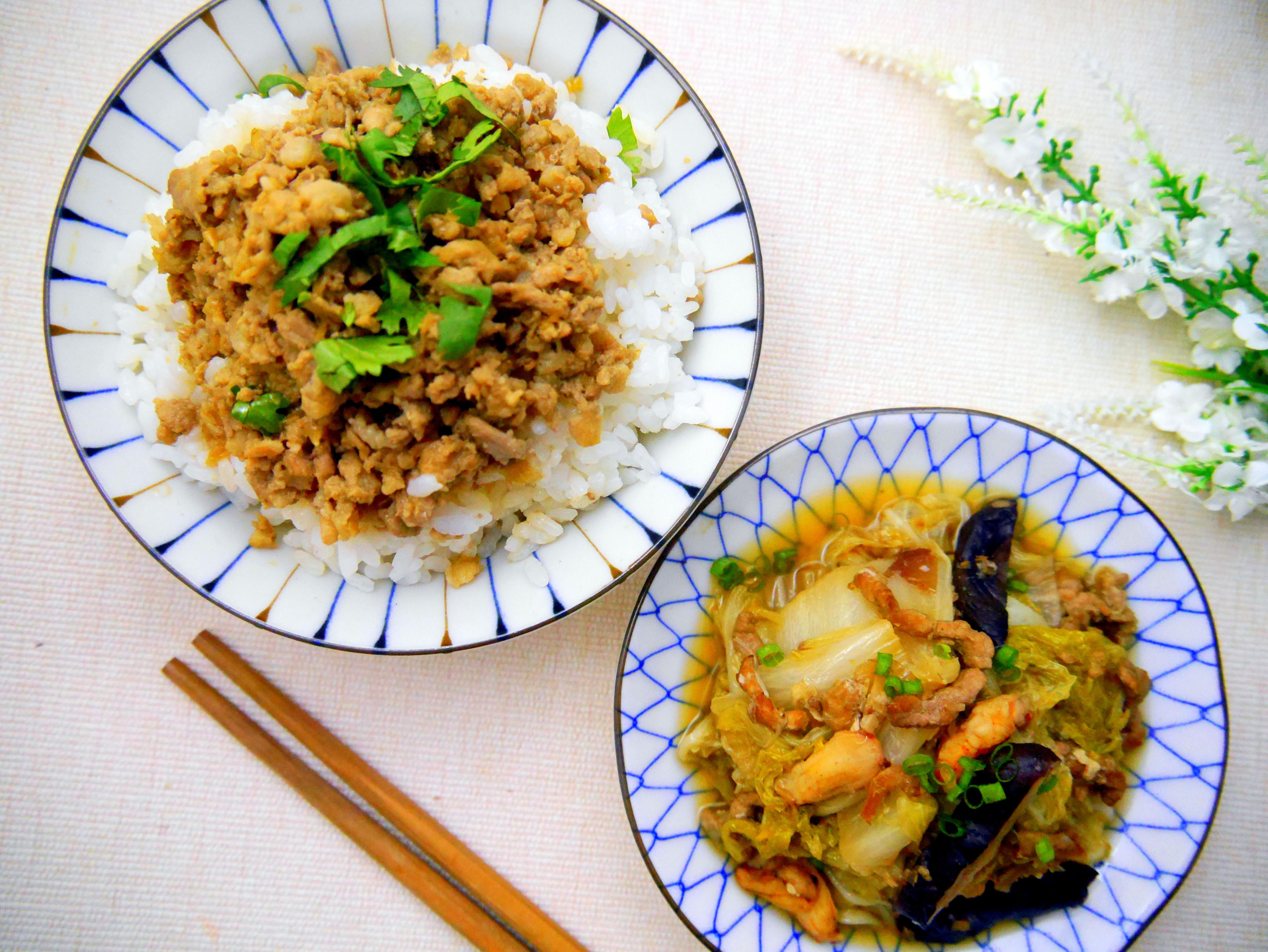 台式古早味餐桌-台式滷肉飯+蟹肉白菜滷