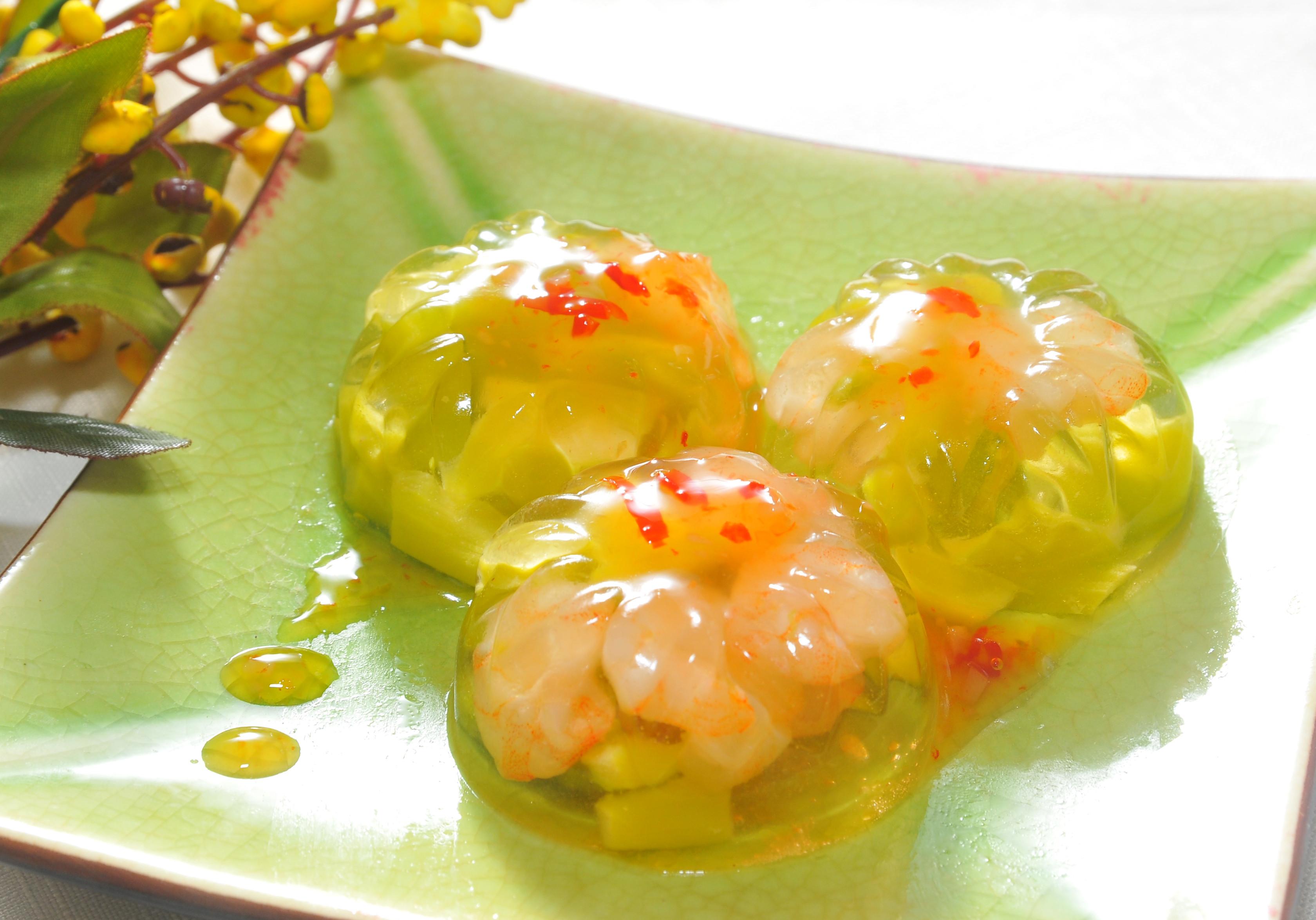 夢幻水晶蘆筍鮮蝦凍 - 健康廚房