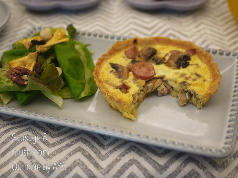 法式蘑菇香腸鹹派