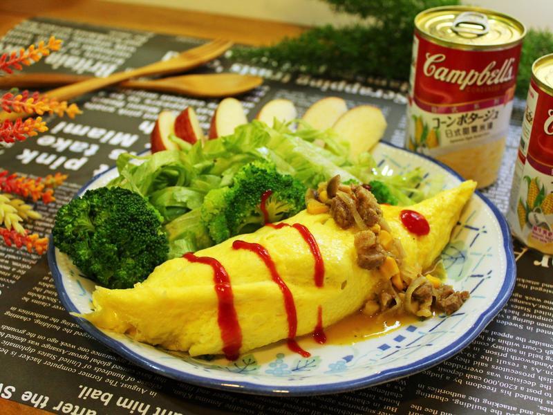 軟煎蛋捲沙拉【金寶湯】