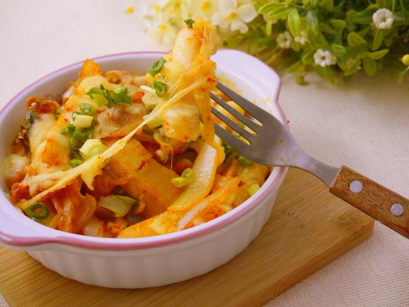 韓式醬X韓式泡菜焗烤年糕條