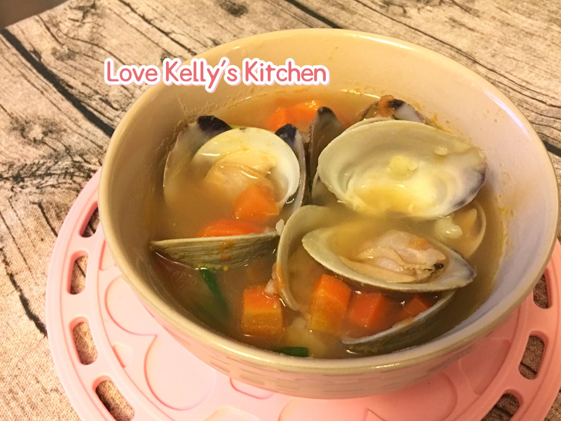蕃茄薯仔紅蘿蔔蛤蜊湯