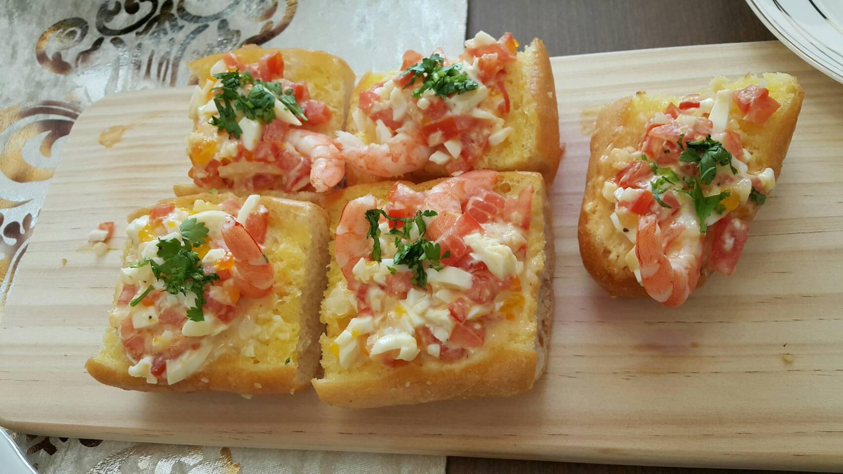 法式餐前小點-蒜香法國麵包