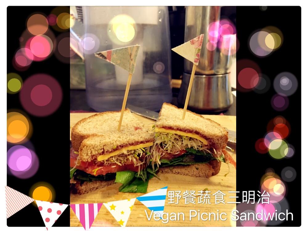 簡易野餐蔬食三明治(覆盆莓生菜沙拉)