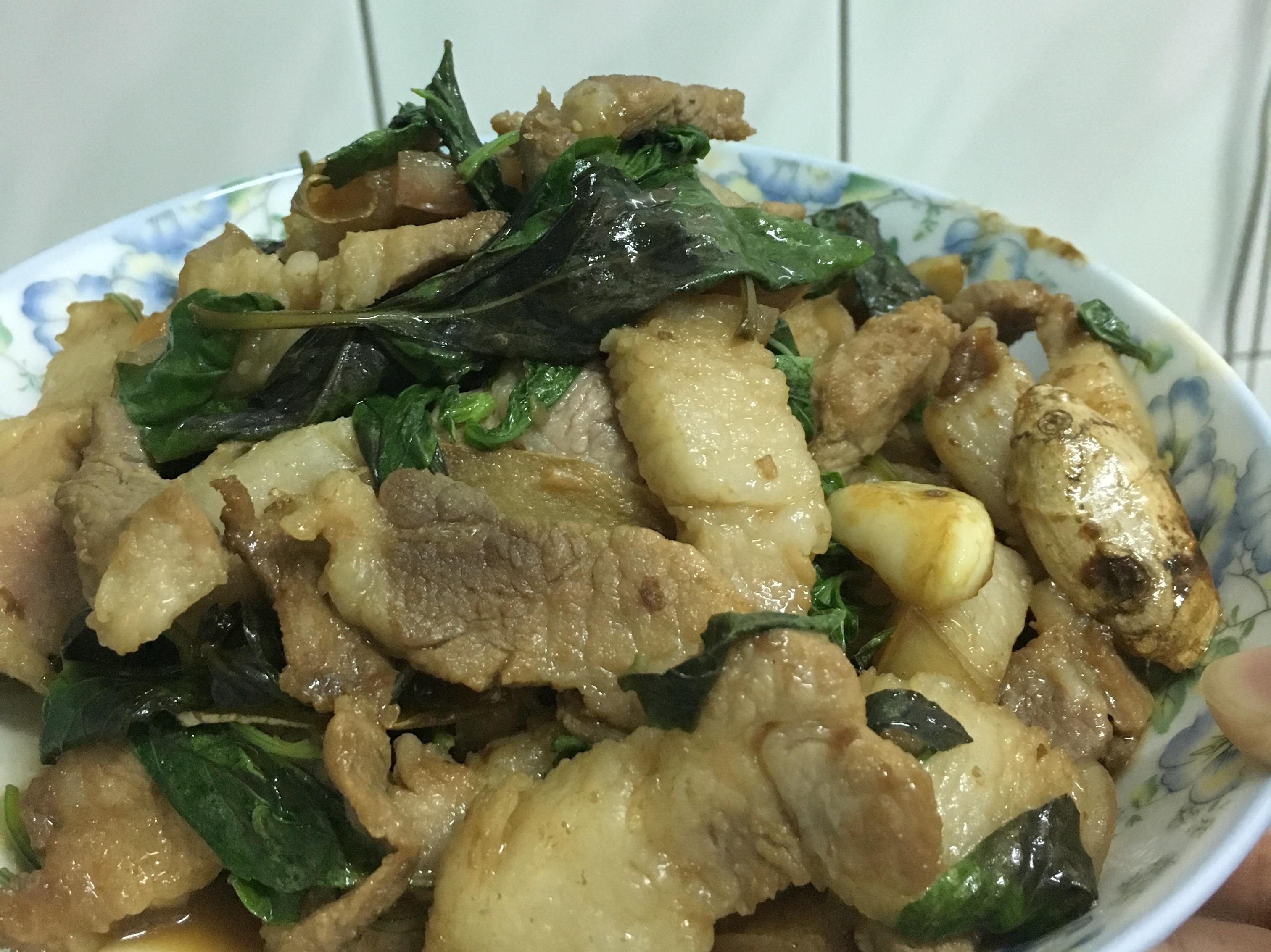 塔香醬油糖豬肉