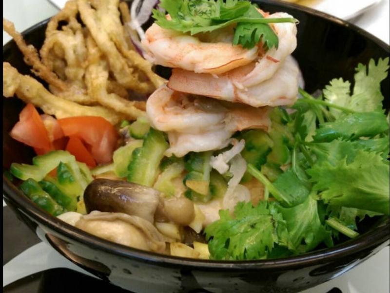 鮮蝦捲香菜佐和風醬-健康廚房