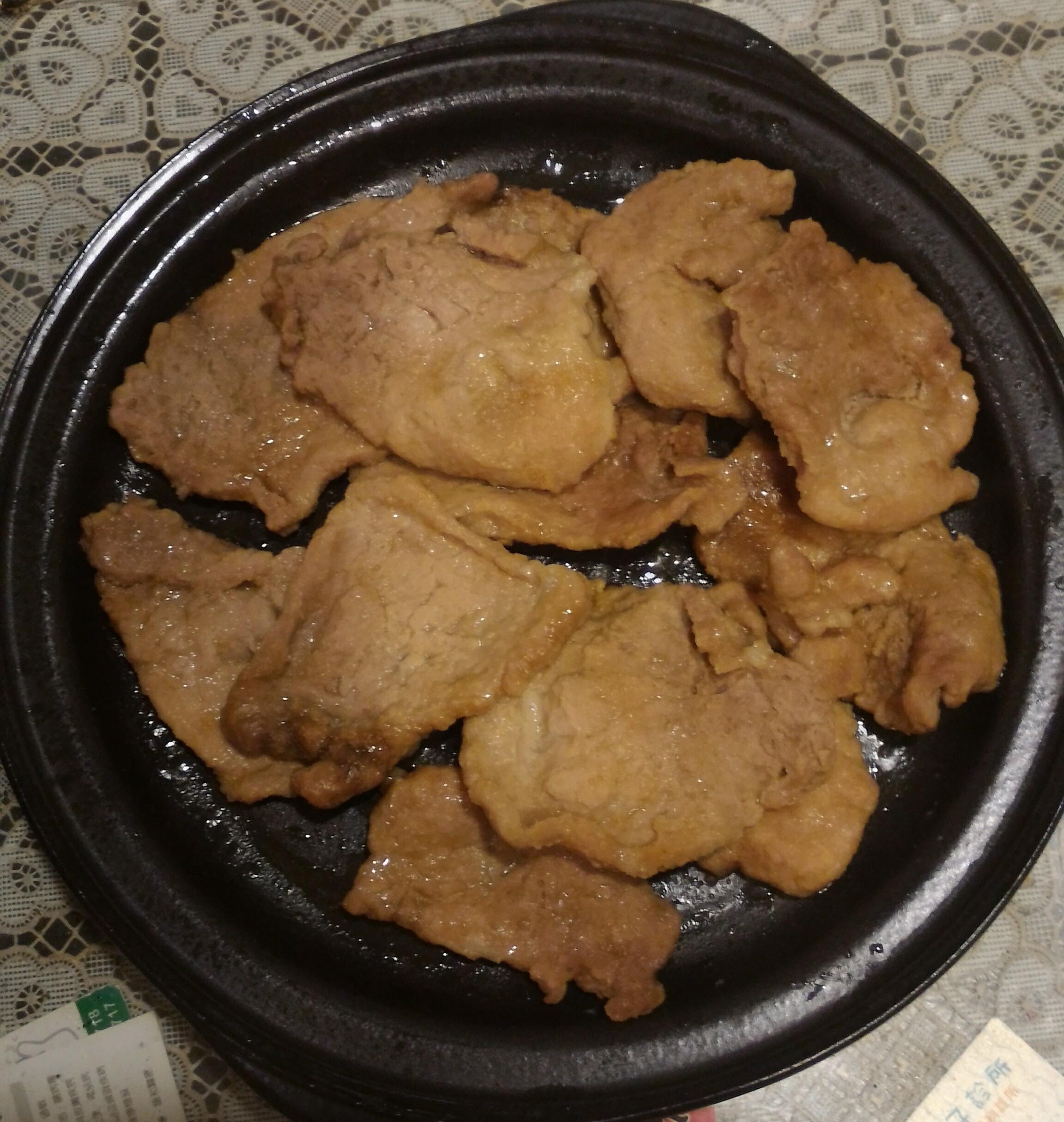 微波爐版炒肉片
