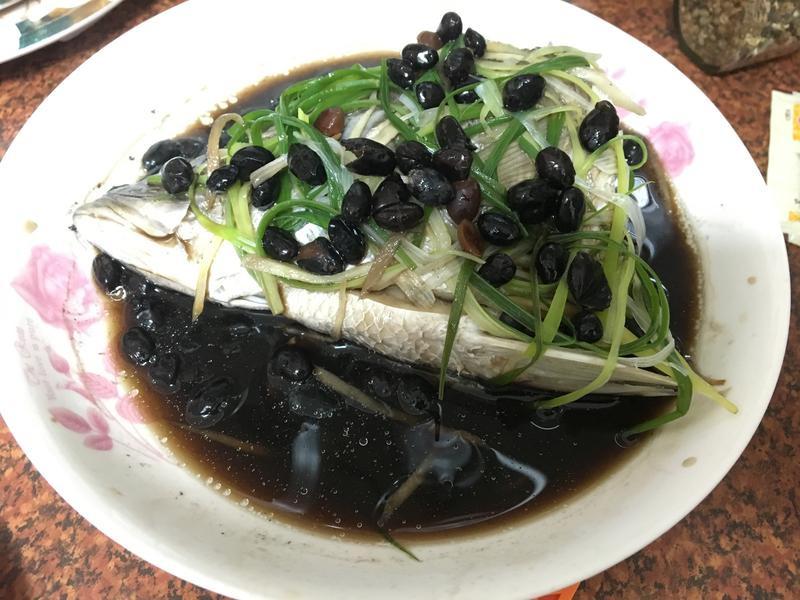 清蒸黑豆鱸魚