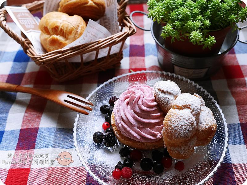 手作-綜合莓果鮮奶油泡芙