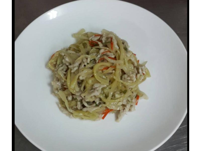酸菜炒肉絲