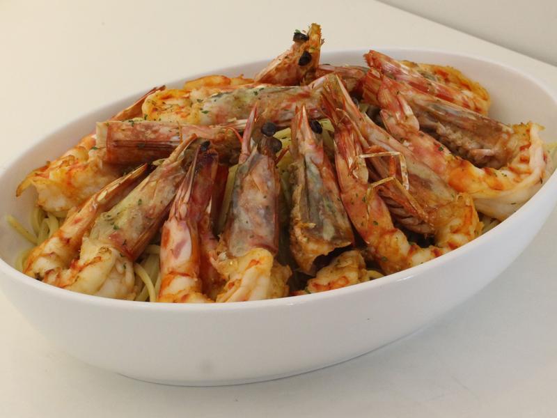 【小磨坊】蒜油明蝦義大利麵