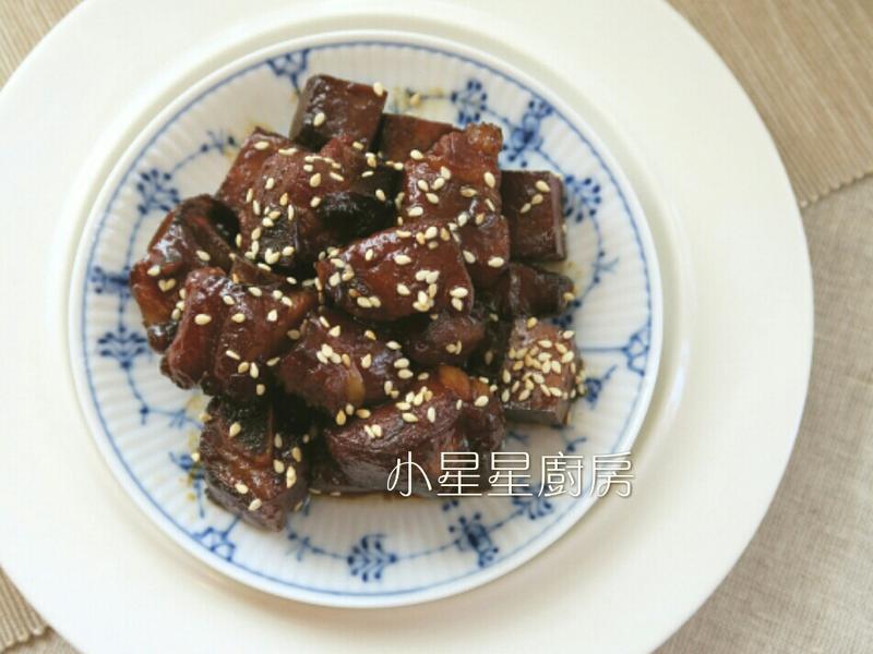 蜜糖蒜香豆干排骨(水波爐料理)