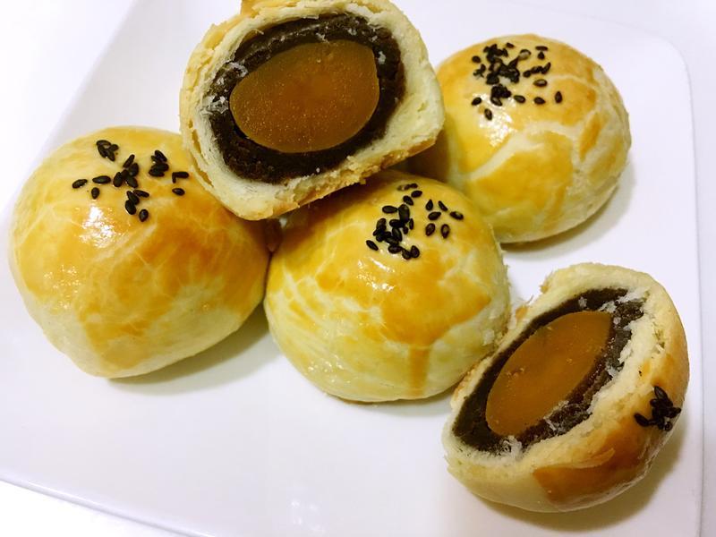 豆沙蛋黃酥(奶油版)