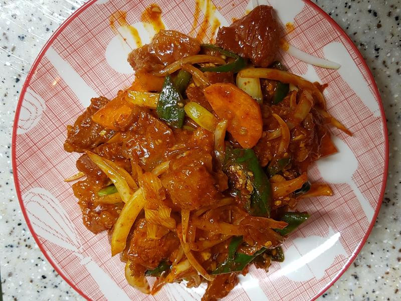 (韓式)炒豬肉 제육볶음