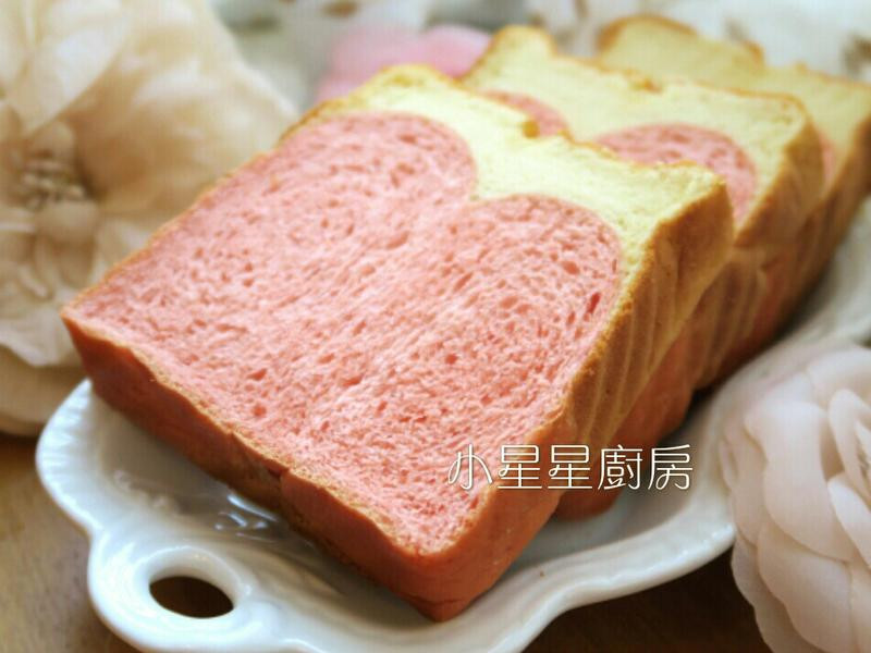 蛋糕吐司(蜂蜜蛋糕&紅麴吐司)-粉嫩春季