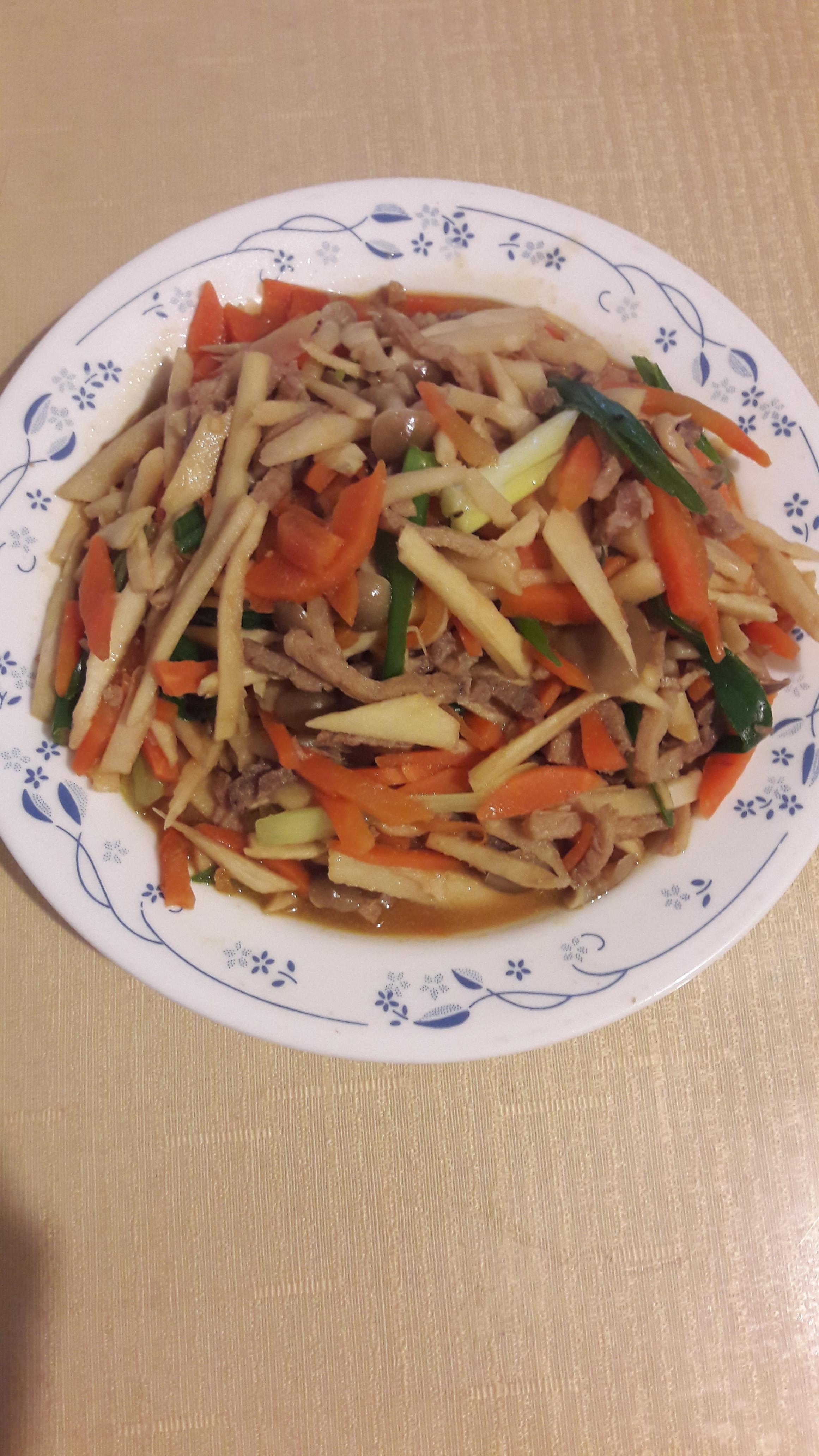 雜菜炒肉絲