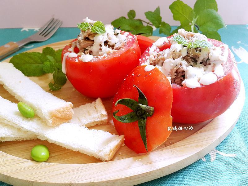 薄荷鮪魚番茄輕食杯